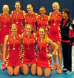 Danielle Taylor with her netball team