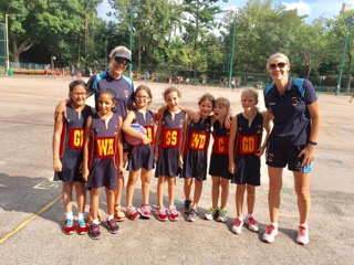 Danielle Taylor: getting ready to coach netball