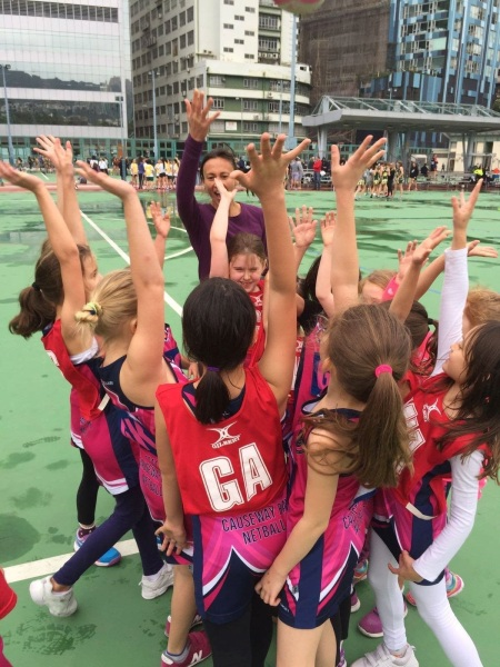 Anna Pinder with her SCAA Causeway Bay Mini Netball
